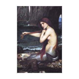 Toile Une sirène par J W WaTERHOuSE, 1901