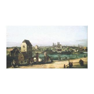 Toile Une vue de la ville allemande Munich par B.