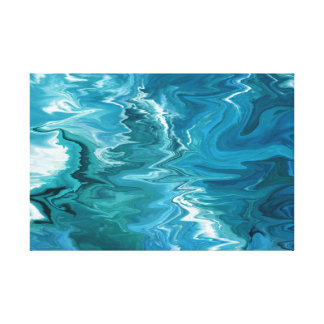 Toile Vagues 234 de bleu