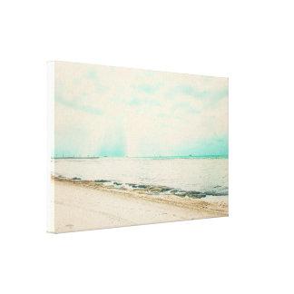 Toile Vagues, sable, et ciel à la plage de Higgs à Key