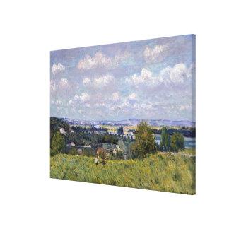 Toile Vallée d'Alfred Sisley | de la Seine au St-Nuage
