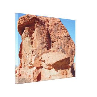 Toile Vallée de formations de roche de désert du feu