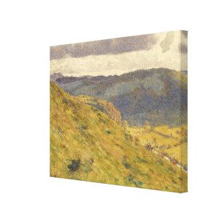 Toile Vallée du Teme par matin ensoleillé de novembre
