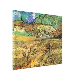 Toile Van Gogh a enfermé le champ de blé et les