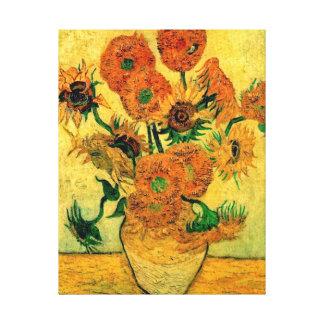 Toile Van Gogh - vase toujours à la vie avec quinze