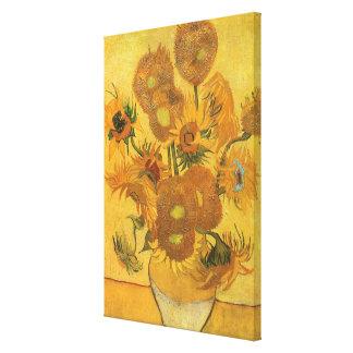 Toile Vase avec 15 tournesols par Vincent van Gogh