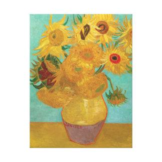 Toile Vase avec douze tournesols par Vincent van Gogh