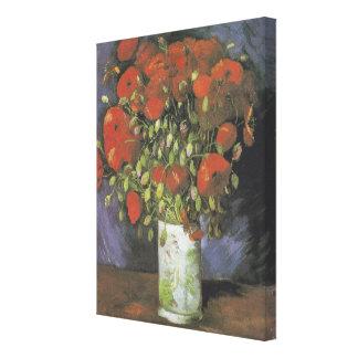Toile Vase avec les pavots rouges par Vincent van Gogh