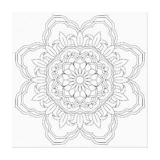 Toile Vect desing d'Indien de conception de fleur de