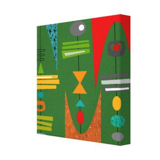 Toile Vert moderne d'art abstrait de la moitié du siècle