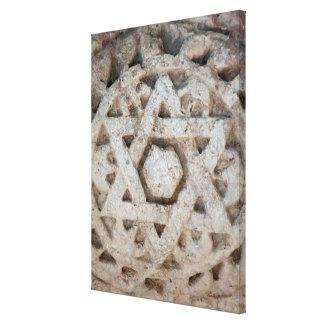 Toile Vieille étoile de David découpant, Israël