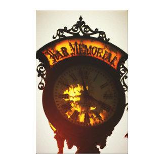 Toile vieille horloge de mémorial de guerre de Niles