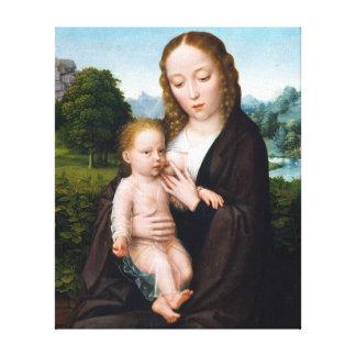 Toile Vierge et enfant de Simon Bening
