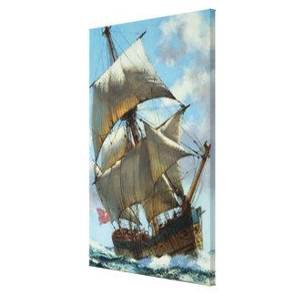 Toile Vieux bateau de navigation