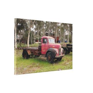 Toile Vieux camion rouge