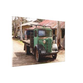 Toile Vieux camion vert