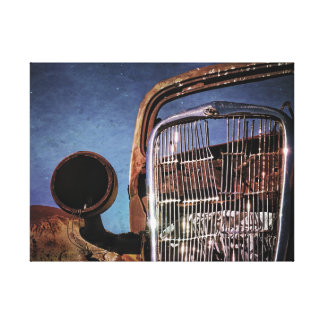 Toile Vieux gril rouillé de voiture