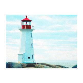 Toile Vieux phare, océan bleu, maritime, nautique