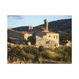 Toile Village abandonné en Espagne