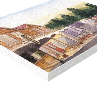 Toile VILLE du NEVADA - aquarelle, copie enveloppée de