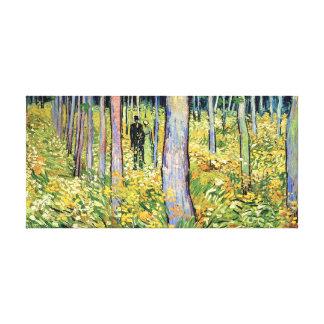 Toile Vincent van Gogh - broussaille avec deux figures