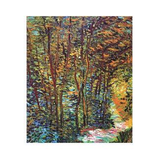 Toile Vincent van Gogh - chemin en beaux-arts en bois