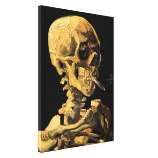 Toile Vincent van Gogh - crâne avec la cigarette