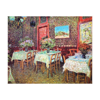 Toile Vincent van Gogh - intérieur d'un restaurant
