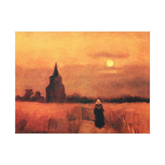 Toile Vincent van Gogh - la vieille tour dans les