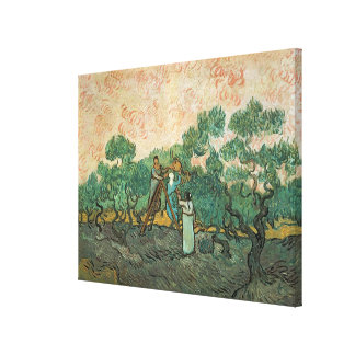 Toile Vincent van Gogh | les récolteuses olives,