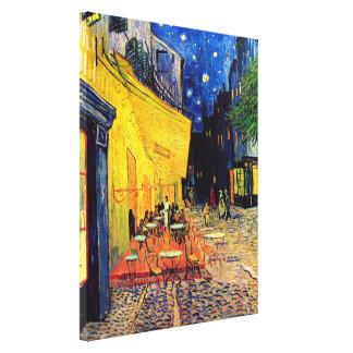 Toile Vincent van Gogh - terrasse de café aux beaux-arts