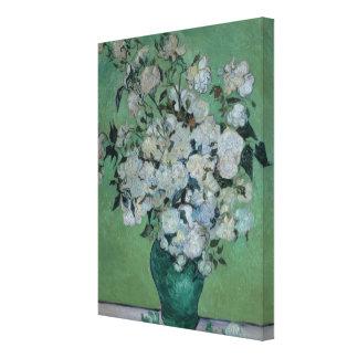 Toile Vincent van Gogh   un vase de roses, 1890
