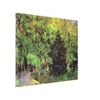 Toile Vincent van Gogh - une ruelle dans le jardin