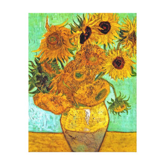 Toile Vincent van Gogh - vase avec douze tournesols
