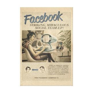 Toile vintage de Facebook Toiles