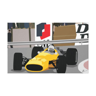 Toile vintage de la formule 1 de Mclaren Monaco