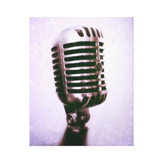 Toile vintage de microphone