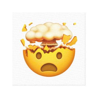 Toile Visage choqué avec la tête de explosion - Emoji