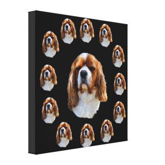 Toile Visage du Roi Charles Cavalier Spaniel Dog,