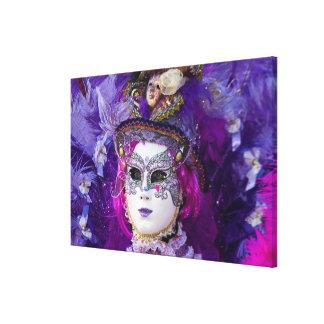 Toile Visage d'un costume de carnaval, Venise