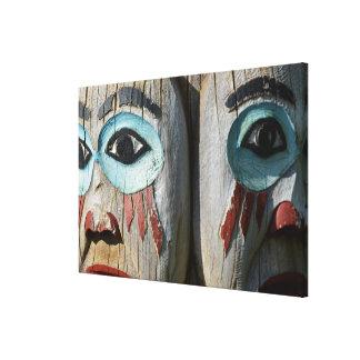 Toile Visages d'un totem Polonais, Alaska