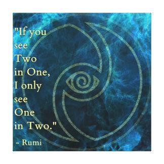Toile Vision Rumi et art poétique