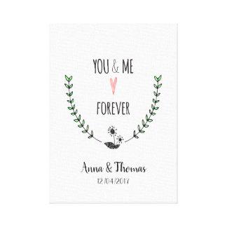Toile Vous et moi pour toujours amour romantique