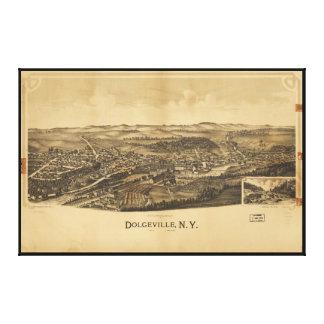 Toile Vue aérienne de Dolgeville, New York (1890)