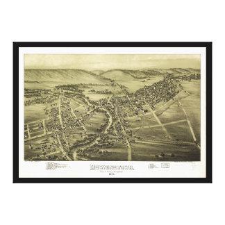 Toile Vue aérienne de Downington, Pennsylvanie (1893)