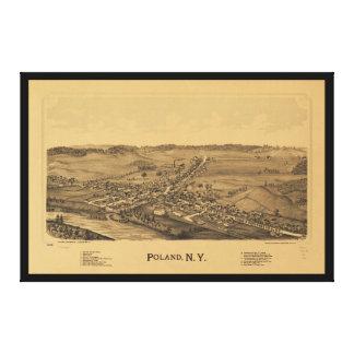 Toile Vue aérienne de la Pologne, New York (1890)