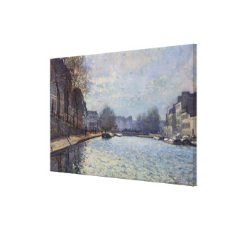 Toile Vue d'Alfred Sisley   du canal St Martin, Paris