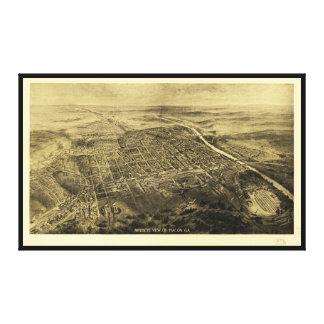 Toile Vue d'oeil d'oiseau de Macon, la Géorgie (1912)