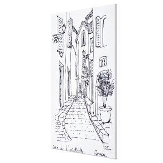 Toile Vue le long de rue de l'oratoire | Grasse, France