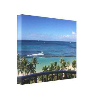 Toile Vues de Waikiki